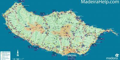madeira térkép Madeira Portugália térkép   Térkép Portugália Madeira (Dél  madeira térkép